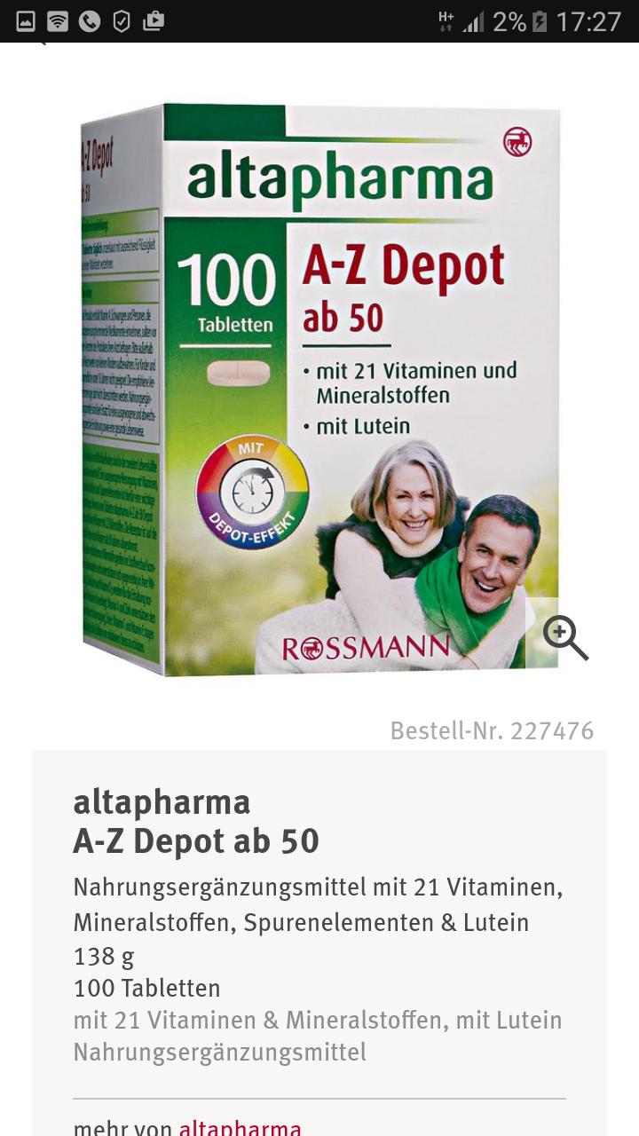 Altapharma витамины для беременных 70